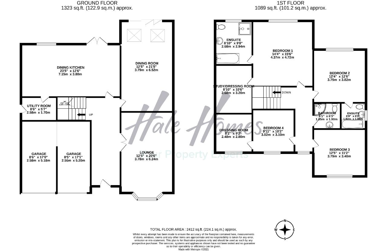 Floorplan of Wood Lane, Timperley, Altrincham, WA15 7PS