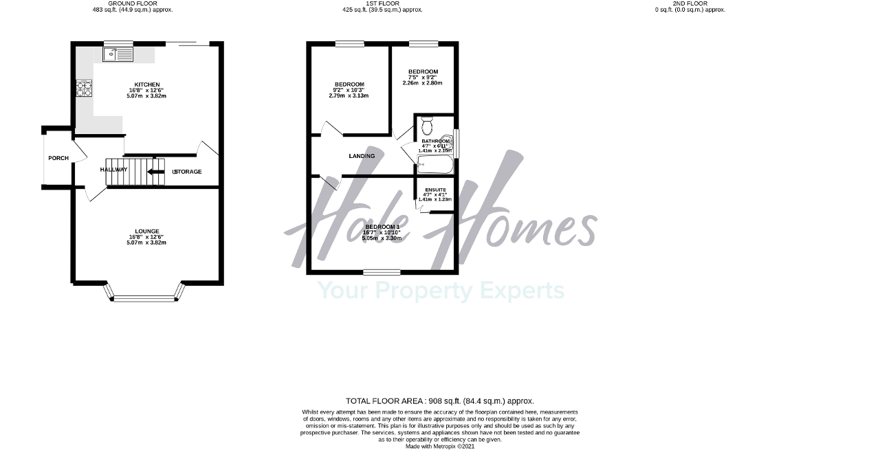 Floorplan of Campbell Road, Sale, Cheshire, M33 4AP