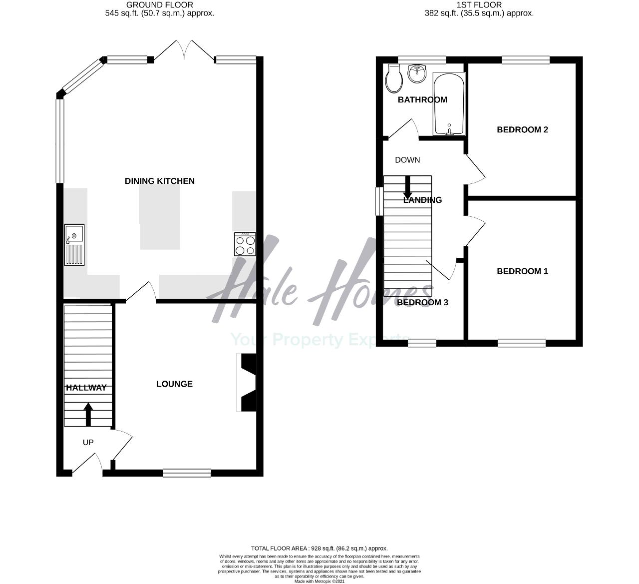 Floorplan of Bowness Road, Timperley, Altrincham, WA15 7YB