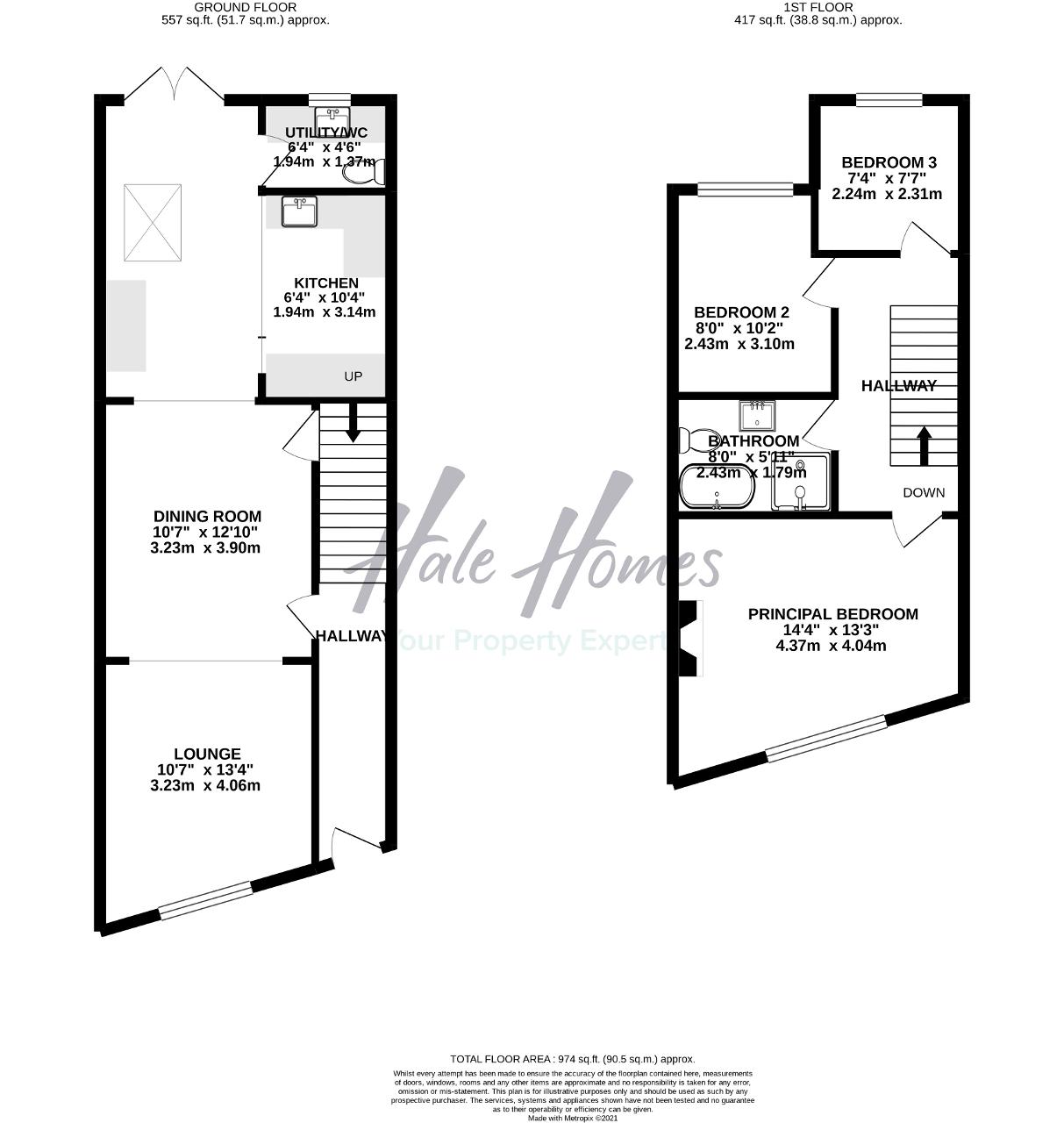 Floorplan of Park Road, Hale, Cheshire, WA15 9LR