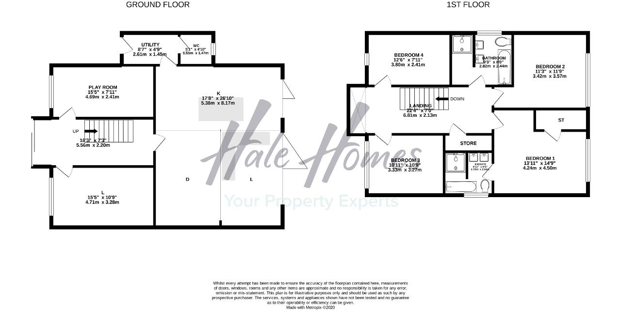 Floorplan of Briony Avenue, Hale Barns, Cheshire, WA15 8PZ