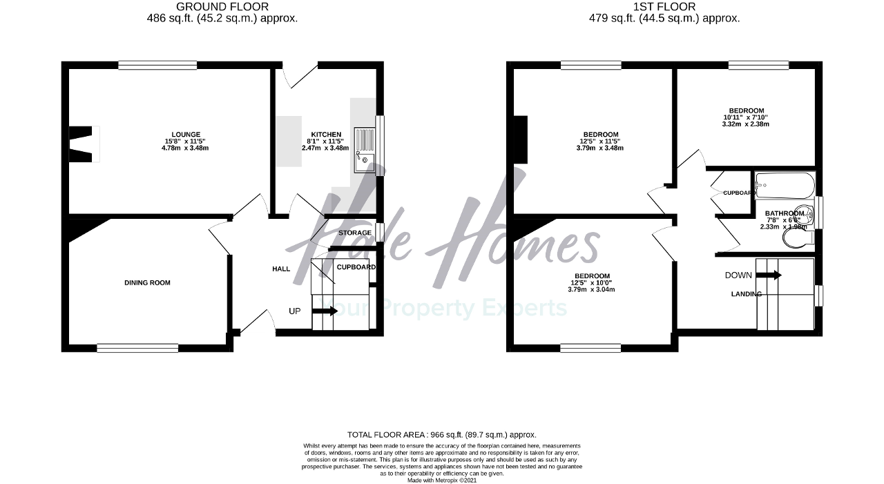Floorplan of Milner Avenue, Broadheath, Altrincham, Cheshire, WA14 5HS
