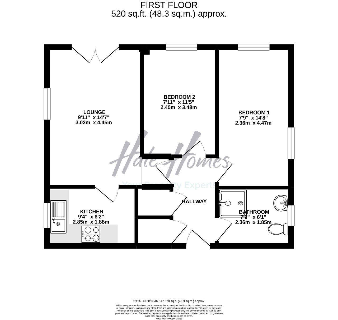 Floorplan of Wood Lane, Timperley, Cheshire, WA15 7PG
