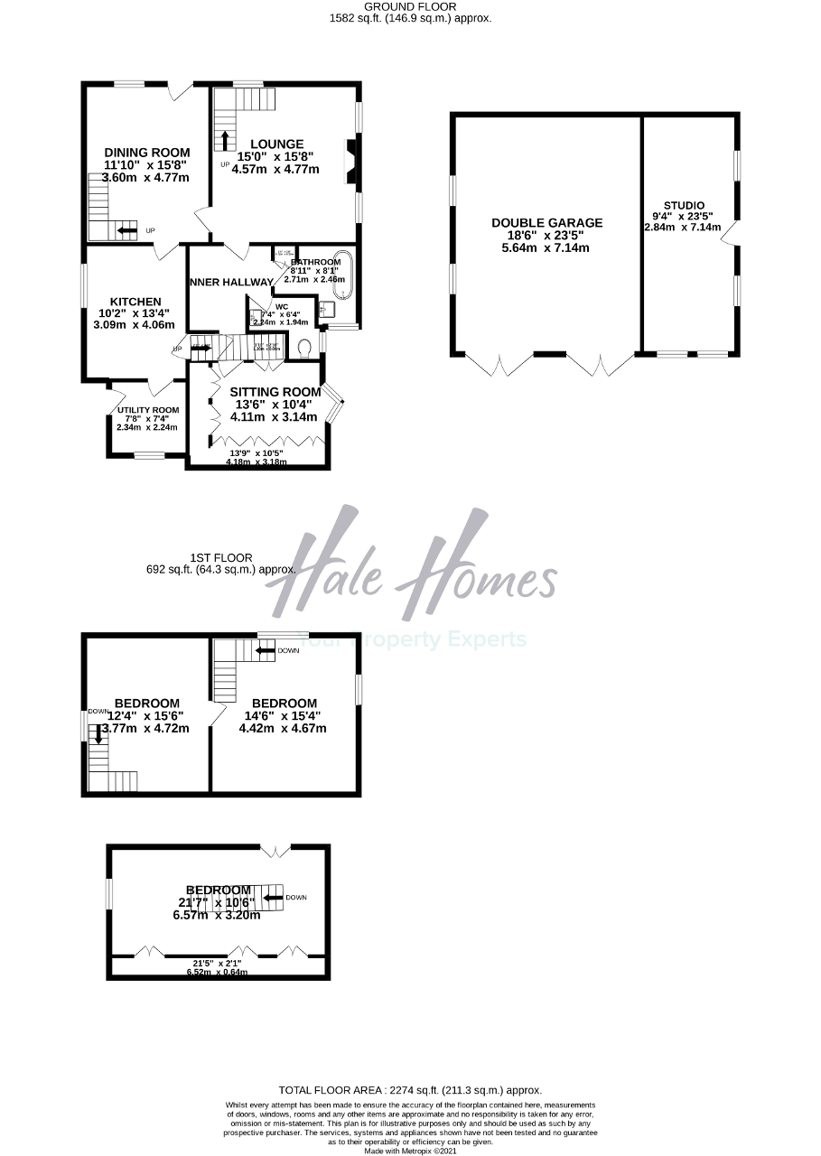 Floorplan of South Downs Road, Bowdon, Cheshire, WA14 3DR